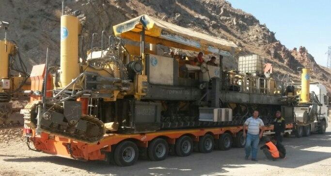 перевозка полуприцепом 80 тонн в горах